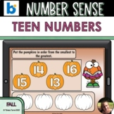 Pumpkin Teen Numbers Boom Cards™