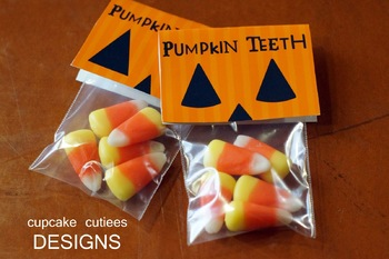 Pumpkin Teeth Hand out Classroom Party Printable - Digital Fun Printable