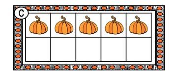 Pumpkin Ten Frame 1-10
