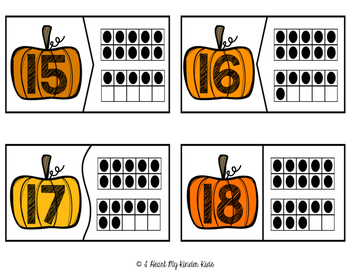 Pumpkin Ten Frame 1-20 Puzzles