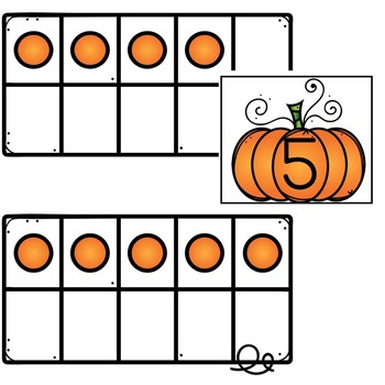 Pumpkin Ten Frame