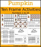 Pumpkin Ten Frame Activities (1-20)