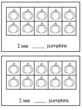 Pumpkin Ten Frame Book
