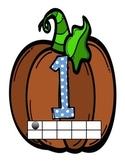Pumpkin Ten Frame Cards 1-10