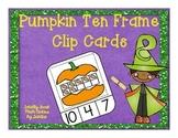 Pumpkin Ten Frame Clip Cards