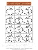 Pumpkin Ten Frame Concentration Game
