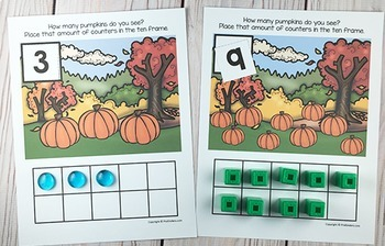 Pumpkin Ten Frame Game   Pre-K + K Math