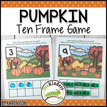 Pumpkin Ten Frame Game | Pre-K + K Math