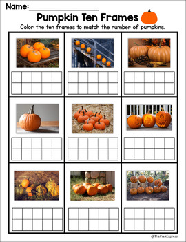Pumpkin Ten Frame - Halloween Activity
