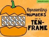 Pumpkin Ten-Frame Match