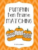 Pumpkin Ten Frame Matching