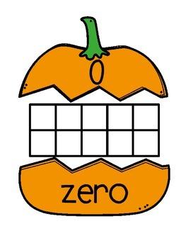 Pumpkin Ten Frame Puzzles