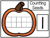 Pumpkin Ten Frame Seed Counting. Numbers 1-10. Preschool-K
