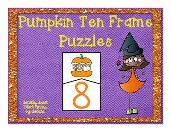 Pumpkin Ten Frame Self Checking Puzzle