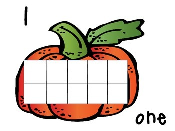 Pumpkin Ten Frames 1-20