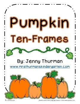 Pumpkin Ten-Frames
