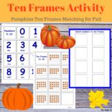 Pumpkin Ten Frames Matching Activity, 0-30 Numbers