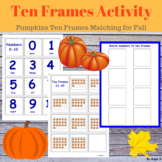Pumpkin Ten Frames Matching Activity, 0-30 Numbers