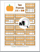 Pumpkin Math - Ten Frames Number Cards 0-20