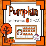Pumpkin Ten Frames (#'s 1 - 20) ~ 4 Sets - Complete & Blank