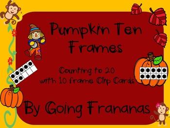 Pumpkin Ten Frames to 20