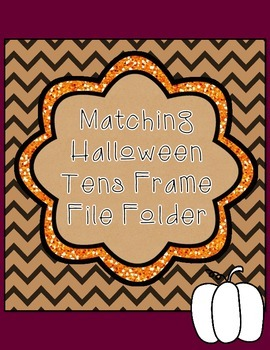 FREE Pumpkin Tens Frame File Folder