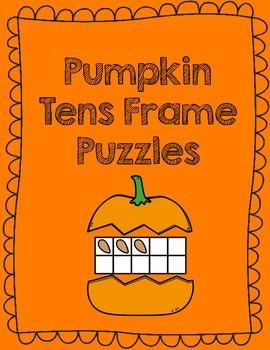 Pumpkin Tens Frame Puzzles