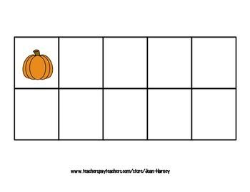 Pumpkin Tens Frames 0-30 for Subitizing Practice...Fall, Autumn, Halloween