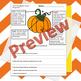 Pumpkin Text Features Diagram Assessment/Worksheet