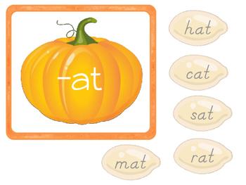 Pumpkin (Thanksgiving) CVC Word Sort for early readers
