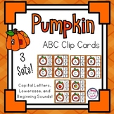 Pumpkin Theme Alphabet and Beginning Sound Clip Cards - Ca