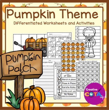 Pumpkin Theme Differentiated Worksheets and Activities