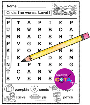 Pumpkins Theme Differentiated Worksheets and Activities