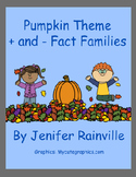 Pumpkin Theme Math Fact Families + and -