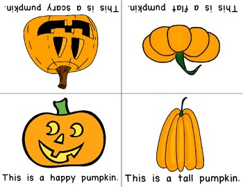 Pumpkin Theme Foldable Early & Emergent Readers ~Set of 7~  Color & B&W Included