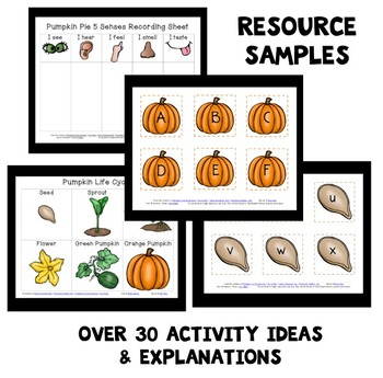 Pumpkin Theme Home Preschool Lesson Plans