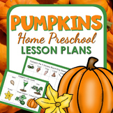 Pumpkin Theme Home Preschool Lesson Plans
