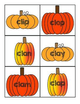 Pumpkin Theme (L-Blends) Word Sort