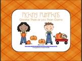 Pumpkin Theme Math Center Game {Greater Than Less Than}