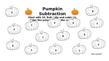 Pumpkin Theme Math Stations