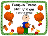 Pumpkin Math Stations {Six Different Games!}