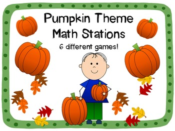 Pumpkin Math Stations {Six Different Games!}