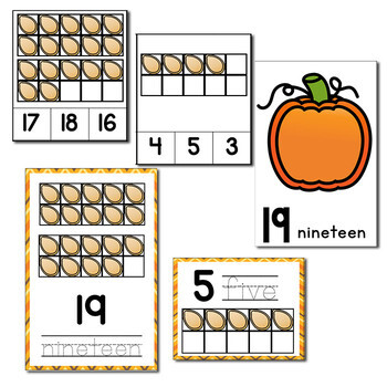 Pumpkin Theme Numbers 1-20 Counting Activities | Counting to 20 | Math Centers