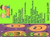 Pumpkin Theme- Reading, Writing, Grammar, and Measurement