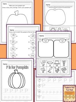 Pumpkin Theme Reading, Writing, & Math Activities:  Pumpkin Pals for PreK or K