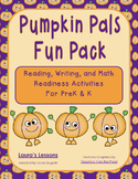 Pumpkin Theme Reading, Writing, & Math Activities:  Pumpkin Pals for PreK or K