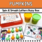 Pumpkin Theme Task Box   Dough Alphabet Activity