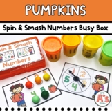 Pumpkin Theme Task Box   Dough Numbers and Counting Activity