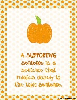 Pumpkin Theme Topic Sentences and Details