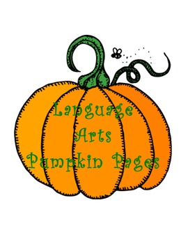 Pumpkin Theme Unit - Language Arts K-2